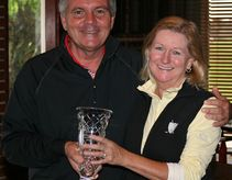 Mike Boss and 2013 Ladies' Club Champion, Linda McMillan